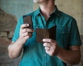 iPhone 5/s Leather Wallet Case - Detachable Inner Case