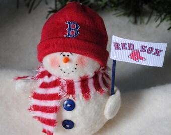 Boston Red Sox Snowman Ornament