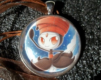 1.25 inch Diameter Meloetta - Pirouette Form - Pendant Charm made from Trading Cards
