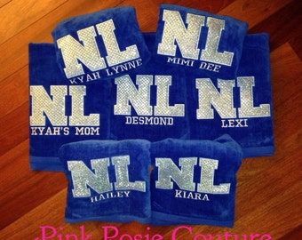Personalized Beach Towel - Monogramed Large Towel - Swim Team Towel - Gymnastics Team