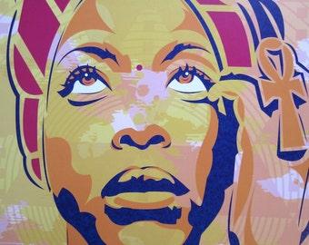 Erykah Badu Baduizm Digital Art Print