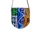 African Messenger Bag - Batik - Patchwork - Support the Deaf in Ghana