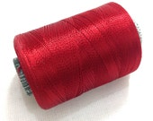 Machine Embroidery Thread - Classic Red Art Silk Embroidery Thread - Embroidery Thread -  Beading Thread