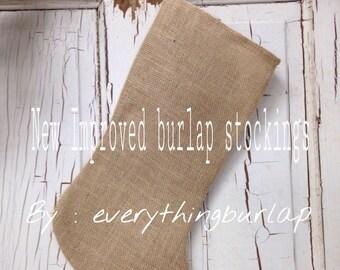 Burlap Stockings New improved !
