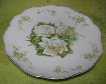 Rosenthal Selb Bavaria Madeleine Plate, White Roses, Rare Rosenthal, Collectible Madeleine, Kathleen Leasure, Fromglentoglen