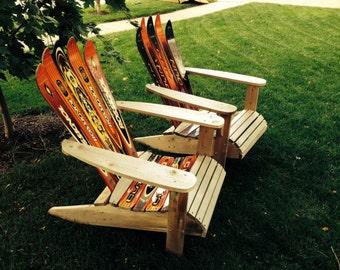 Cedar and ski Adirondack chair.   The most comfortable chair.
