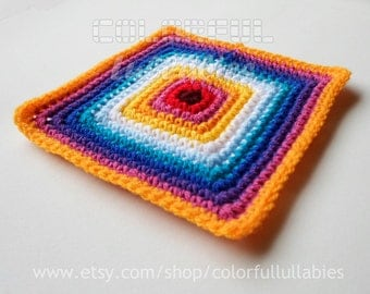Single Crochet Solid Square chart. Pattern No 1 of the collection of Basic Crochet Shapes