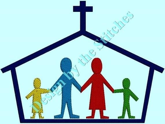 Church Family Religous Religion Religous Symbol  Holy Jesus Abstract INSTANT DOWNLOAD  Embroidery Design 4 hoop sizes