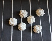 set of 6 small cotton rope knots / seat card holder