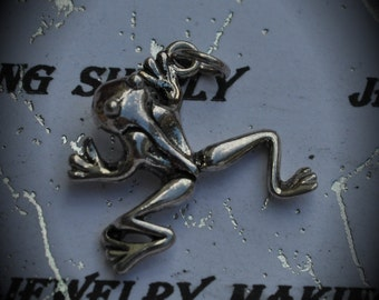 Frog Sterling Silver Plated Charm