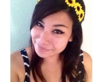 SALE Sunflower Halo