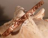 Copper Wave Pattern Bracelet.