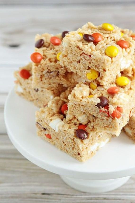 Peanut Butter Rice Krispy Treats by SugarQueenSweets on Etsy