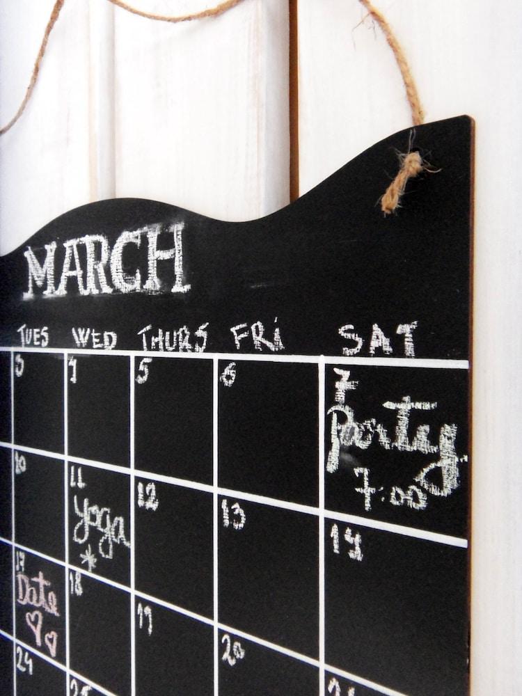 Chalkboard Calendar Canada : Chalkboard calendar large monthly planner by chalkstyle on