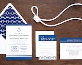 Nautical Wedding Invitation - Printed - Printables DIY Print at Home