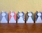 Origami Gift Card Holder Rabbit set of 5