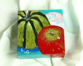 Pumpkin, Apple by Audrey Grice // miniature painting