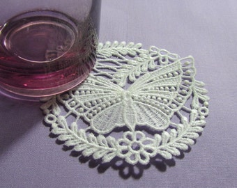 Butterfly Lace Doily Coaster