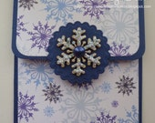 Handcrafted Christmas Snowflake Gift Card Holder by Claire Day
