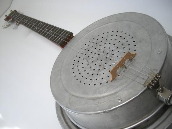 Aluminum Dobro 5-String Bluegrass Banjo Banjourine