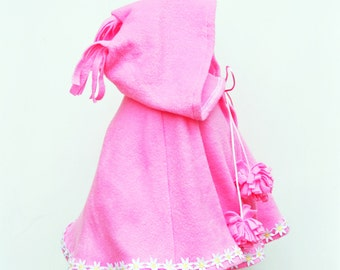 Cape - Baby Pink Cape - Girls Poncho - Infant Girls - Winter Jacket - Toddler Girls - Baby Outwear - Light Jacket - Hoodie - Newborn to 7