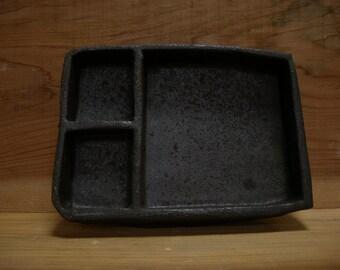 Black plate 1176, matte black, wood fired