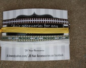 Green Bay Packers Headband Set  - No Crease No Pull - Soft Comfy - Hair Bows, Clips, Flowers