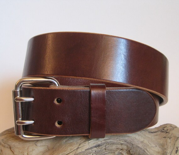 heavy duty leather belt brown 1 75 wide by