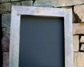 """16""""x18"""" Rustic Chalk board framed in old barn wood"""