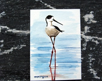 ACEO Limited Edition 1/25 -A bird with long legs