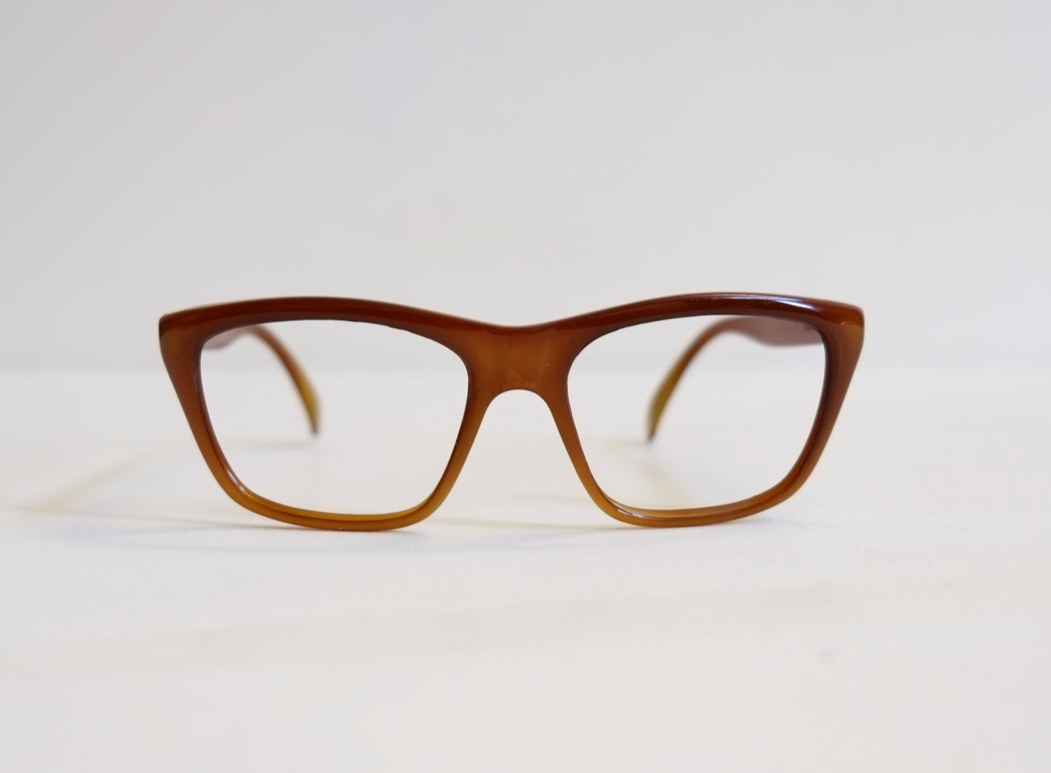Frame Of Glasses In French : Suncloud France 1980s Caramel Brown French Eyeglasses ...