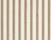 Brown Ticking Pillow Cover - 16, 18 or 20 inch Decorative Throw Cushion Cover - Brown Ivory Ticking Stripe
