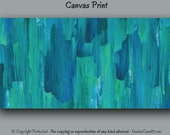 """Large abstract wall art, Canvas art print up to 72"""" wide, Turquoise teal home decor, Living room, Master bedroom decor Contemporary wall art"""