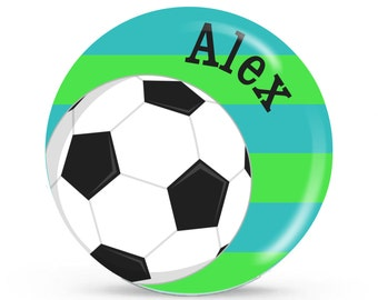 Personalized Plate - Soccer - Personalized Plate for Kids