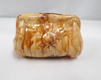 Vintage French Money Bank Faience bag  w721