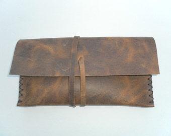 Simple Wallet, Leather Portfolio Wallet,Handmade Pouches,Women And Men Accessories