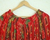 Women's Skirt Vintage Long Skirt Maxi Hippie Boho Oversize