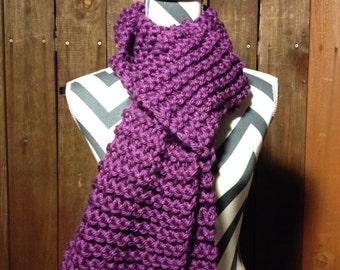 """Beautiful """"Grape"""" Hand Knit Scarf //purple//"""