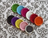 25 colored flattened bottle caps liner less You pick colors
