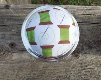 Needle and thread Pin cushion Jar