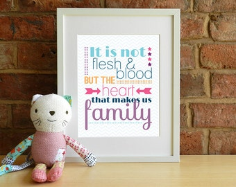 It Is Not Flesh & Blood... - Adoption Quote - 8x10 inch print
