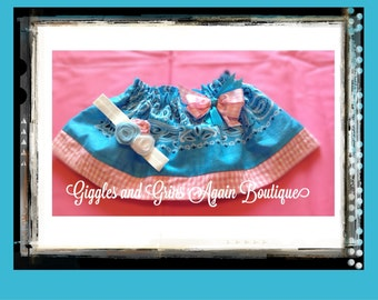 Bandana Skirt for all the Little Cowgirls  Included Matching Rosette Headband -  All Colors and  Sizes 6 months to 5 years