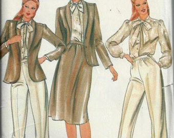 Butterick 3942 Misses Jacket, Blouse, Skirt & Pants Pattern, Size 12, UNCUT