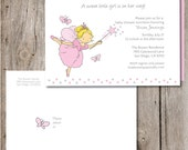 Fairy Baby Shower Invitation and Mailing Label & Designer Envelope