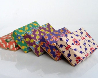 Gift box, Packaging box,wedding favor box,Lattice Print Gold paper box  -10 assorted printed , Jewelry Packaging Boxes