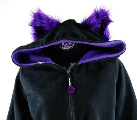 Pawstar Color Theme Fluffy Mew Kitty Hoodie YOU Pick Size