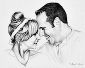 Custom Family Portrait, Pencil Drawing from your photo, Skech, Realistic, Portraits by commission, Art, Family portrait, FREE Digital Format