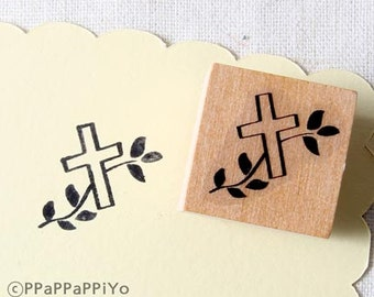 40% OFF SALE Cross Rubber Stamp (20mm)