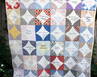 Dont forget to WRITE Vintage QUILT 1936  FRIENDSHIP Quilt