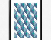 Geometric Pattern Poster Print - Large A2 size